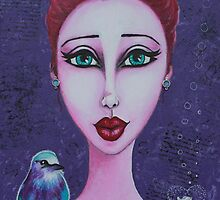 Fish Out of Water & Me Art Reproduction on Redbubble by Tanya Anne Cole by Tanya Cole