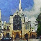 Norwich Cathedral - van Gogh by RicIanH