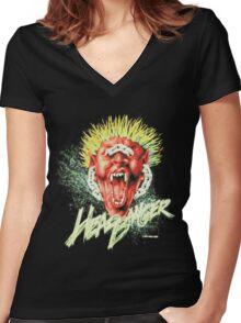 HEADBANGER Women's Fitted V-Neck T-Shirt