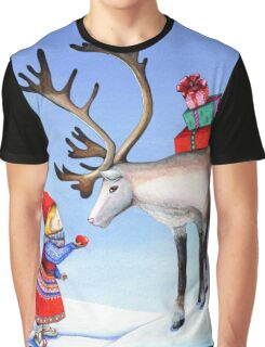 Reindeer Girl Graphic T-Shirt