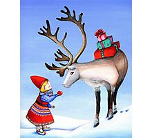 Reindeer Girl Photographic Print
