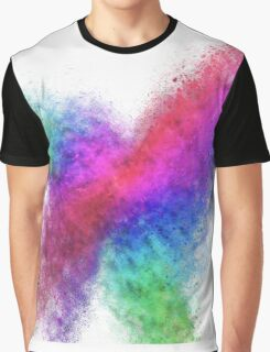 Colourful exploding abstract in green, red, blue and purple  Graphic T-Shirt