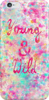 Girly neon Pink Teal Abstract Splatter Typography by GirlyTrend