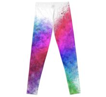 Colourful exploding abstract in green, red, blue and purple  Leggings