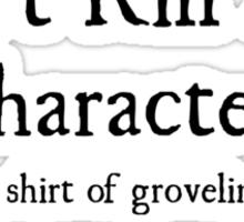 +5 Shirt of Groveling Sticker