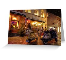 Scooters at the Bistro  Greeting Card