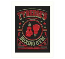 Tyreese's Boxing Gym Art Print