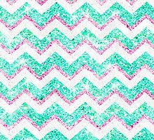 Chevron Pattern Girly Teal Pink Glitter photo by GirlyTrend