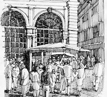 Loggia dei mercanti a Genova by Luca Massone  disegni