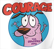 Courage Icon Poster