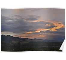 Looking Over the City of Boulder  Poster