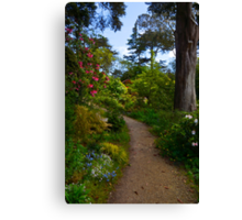 In the Rhododendron Garden Canvas Print