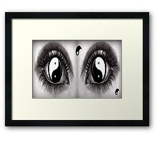 7 Eye Collection: Yin Yang In Your Eyes Framed Print