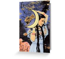 The Moon Goddess Greeting Card