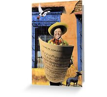 The Singer with the Biggest Repertoire Greeting Card