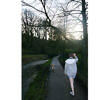 Walk along the river banks. Photographic Print
