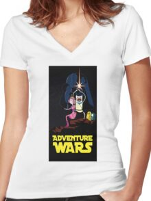 Adventure time star wars  Women's Fitted V-Neck T-Shirt