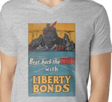 Liberty Bonds Propaganda Mens V-Neck T-Shirt