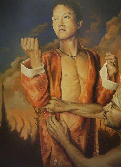 Houkon , acrylic on canvas by Thomas Acevedo