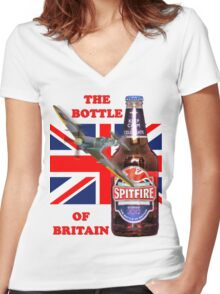The  Bottle Of Britain Tee Shirt Women's Fitted V-Neck T-Shirt