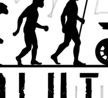Evolution of Man Steet Motorbike Sticker
