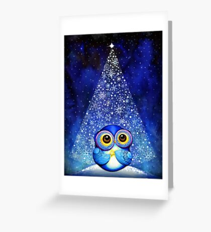 Owl Wish Upon a Star Greeting Card