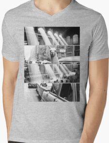 Vintage New York Print Mens V-Neck T-Shirt