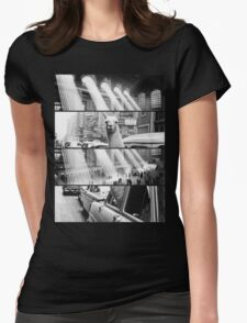 Vintage New York Print Womens Fitted T-Shirt