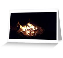 Night Campfire Greeting Card