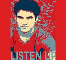 Darren Criss Listen Up Obama Hope Unisex T-Shirt