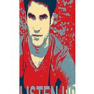 Darren Criss Listen Up Obama Hope Iphone Case by rachick123