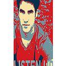 Darren Criss Listen Up Obama Hope Iphone Case by rachick123