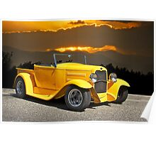1930 Model A Ford Roadster Pick-Up Poster