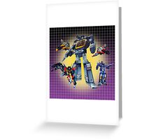 Masterpiece Soundwave and Cassettes Greeting Card