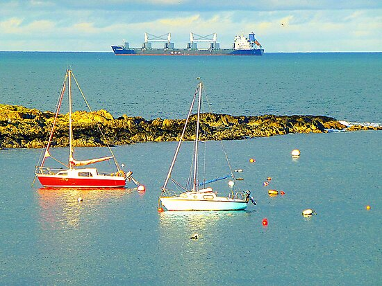 Groomsport On A Sunny Afternoon by Fara