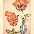 loose poppies in poison jar by resonanteye