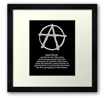 Anarchy. Framed Print