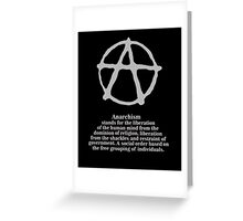 Anarchy. Greeting Card