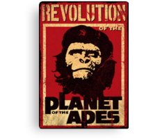 Revolution of the Planet of the Apes Canvas Print