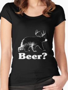 Beer? Women's Fitted Scoop T-Shirt