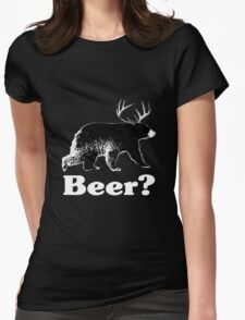 Beer? Womens Fitted T-Shirt