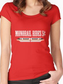 Monorail Rides 5¢ Women's Fitted Scoop T-Shirt