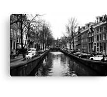 One of Many Amsterdam's Canals Canvas Print