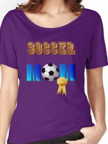 Soccer Mom-gold ribbon Women's Relaxed Fit T-Shirt