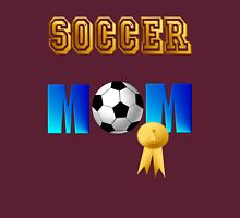 Soccer Mom-gold ribbon Womens Fitted T-Shirt