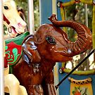 Elephant On Merry-Go-Round by rosaliemcm