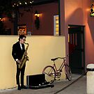 The Sax Player @ Der Pretzel Haus by SummerJade