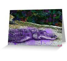 urban alligator Greeting Card