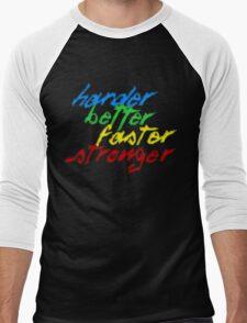 Harder, Better, Faster, Stronger Men's Baseball ¾ T-Shirt