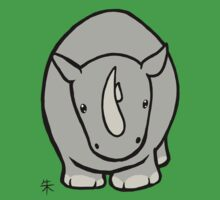 Wildlife Chibi - White Rhino by Shukura